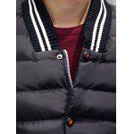 Striped Collar Color Block Panel Quilted Jacket for sale