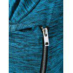 Plus Size Side Zipper Heather Long Jacket - LAKE BLUE