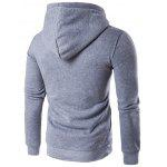 Buy Button Embellished Hooded Hoodie L LIGHT GRAY