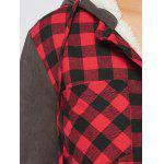 best Plaid Patchwork Fleece Hooded Jacket