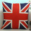 England Flag Pattern Sofa Cushion Linen Pillow Case - BLUE AND RED