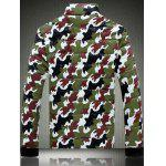 cheap Funnel Neck Zip Up Camouflage Quilted Jacket