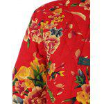 Chinese Style Floral Print Quilted Jacket photo