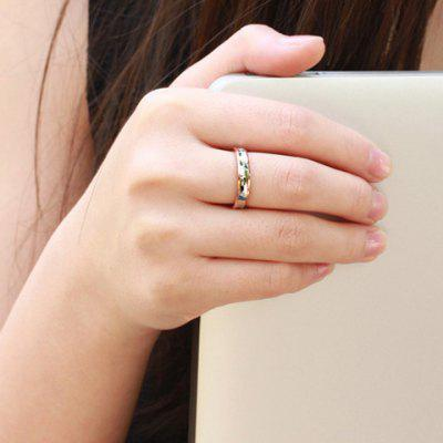 ONE PIECE Cute Rhinestone English Letter Lover Couple Ring