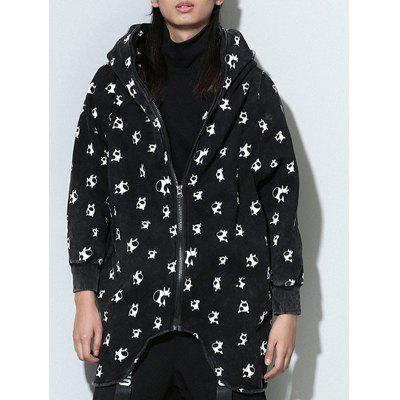 Hooded Long Sleeve Coat