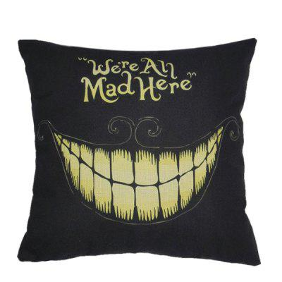 Halloween Teeth Pattern Sofa Cushion Linen Pillow Case