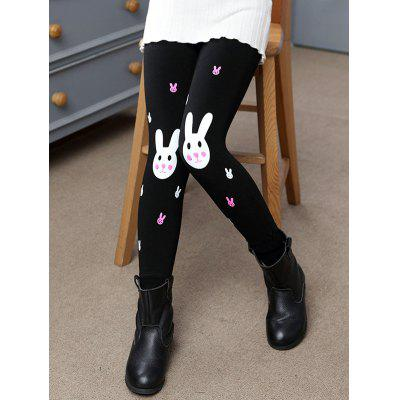 Rabbit Print Plush Lined Leggings