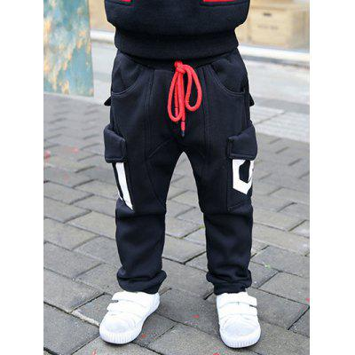 Flap Pocket Drawstring Jogger Sweatpants