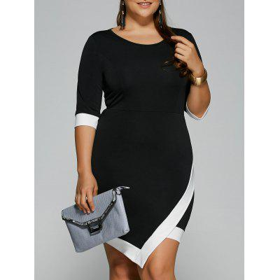 Plus Size Overlap Short Bodycon Bandage Dress 1203 Free Shipping