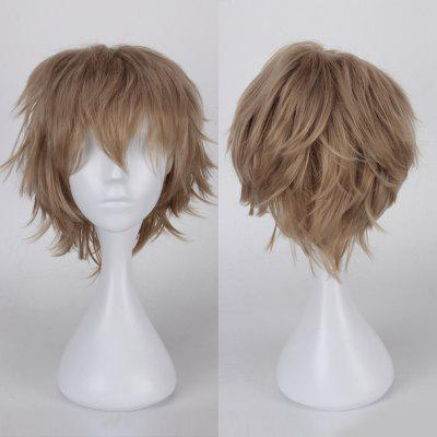 Buy FLAX Multicolor Short Side Bang Fluffy Straight Cosplay Synthetic Wig for $7.53 in GearBest store