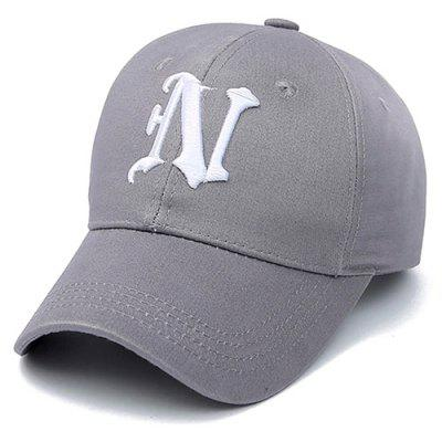 Embroidery Letter N Baseball Cap