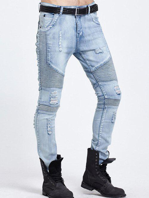 Distressed Ripped Light Jeans