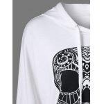 Skull Print Drop Shoulder Hoodie deal
