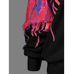 Paint Drip Skew Collar Sweatshirt - BLACK