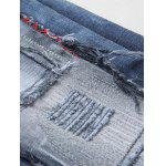 best Zipper Fly Bleach Wash Patch and Holes Design Jeans