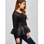 Mesh Insert Peplum Jacket for sale