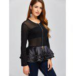 Mesh Insert Peplum Jacket deal