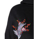 Drawstring Animal Embroidered Hoodie for sale