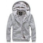 Zip Up Applique Affollamento con Cappuccio e Pantaloni Twinset - GRIGIO