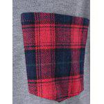 Plus Size Plaid Flounced T-Shirt - GRAY