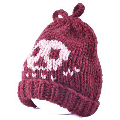 Flanging cráneo del Knit Beanie arco superior