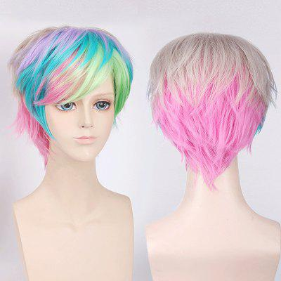 Colorful Short Side Bang Fluffy Straight My Little Pony Cosplay Synthetic Wig