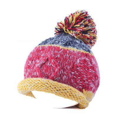Buy SANGRIA Multi Color Knit Ball Rolled Edge Beanie for $2.34 in GearBest store