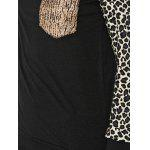 Raglan Sleeve Leopard Print Pocket Design Sweatshirt photo