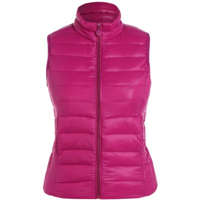 Plus Size Zip Up trapuntato Gilet