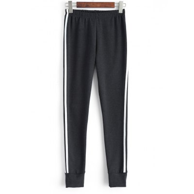 Plus Size Stretchy Striped Jogger Pants