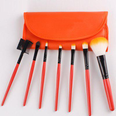 7 Pcs Fiber Facial Makeup Brushes Set with Brush Bag