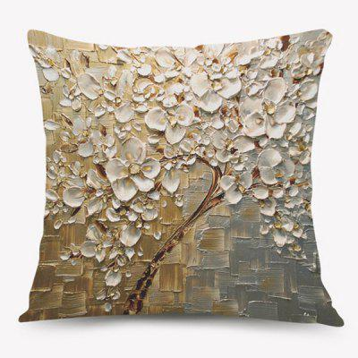 Oil Painting Floral Home Decorative Pillow Case