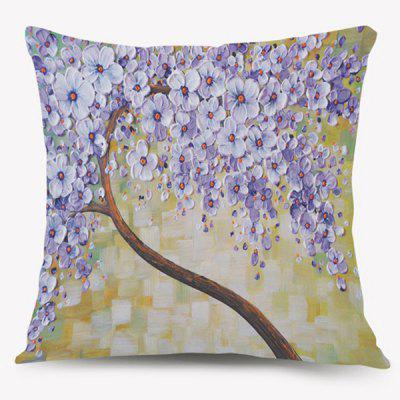 Artistic Oil Paint Flower Cushion Throw Pillow Case
