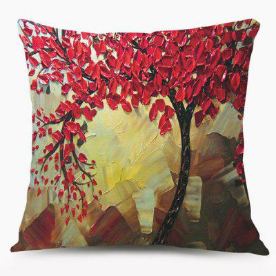 Oil Painting Tree Cushion Throw Pillow Case