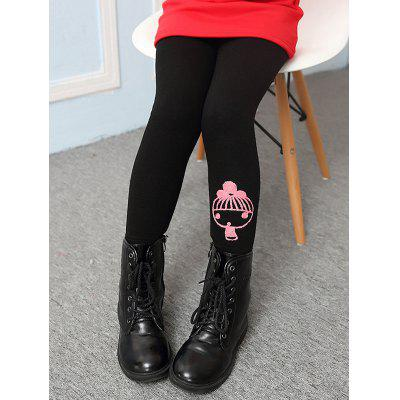 Cartoon Print Warm Leggings