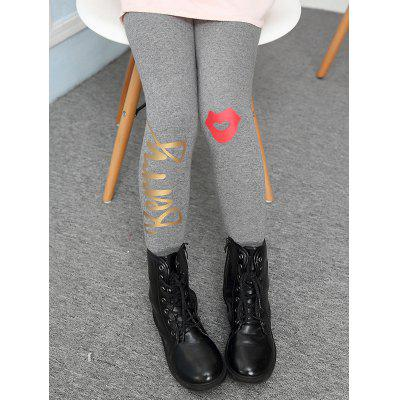 Lip Printed Warm Leggings