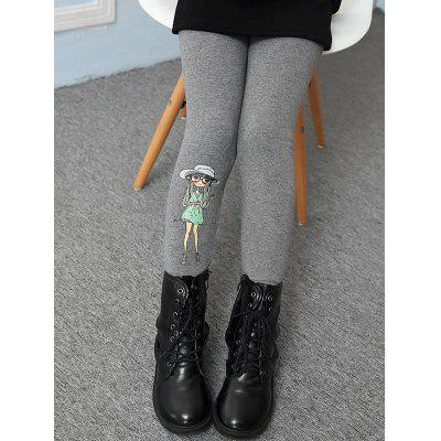 Figure Printed Warm Leggings
