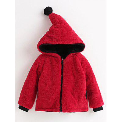 Girls Hooded Convertible Fuzzy Jacket