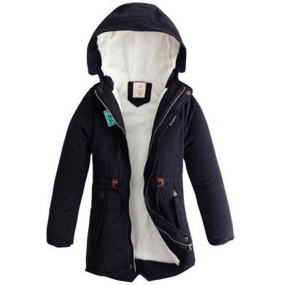 Boys Hooded Star Print Trick Long Coat