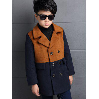 Color Block Kids Pea Coat