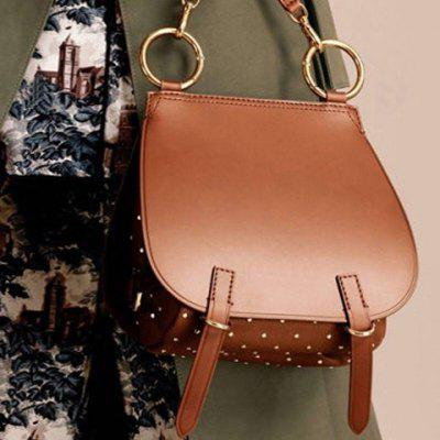 Studded Vintage Saddle Bag