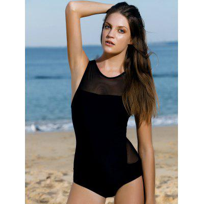 High Neck See-Through One-Piece SwimwearWomens Swimwear<br>High Neck See-Through One-Piece Swimwear<br><br>Bra Style: Unlined<br>Elasticity: Elastic<br>Gender: For Women<br>Material: Nylon<br>Neckline: High Neck<br>Package Contents: 1 x Swimwear<br>Pattern Type: Solid<br>Support Type: Wire Free<br>Swimwear Type: One Piece<br>Waist: Natural<br>Weight: 0.190kg