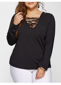 Plus Size Long Sleeves Tee