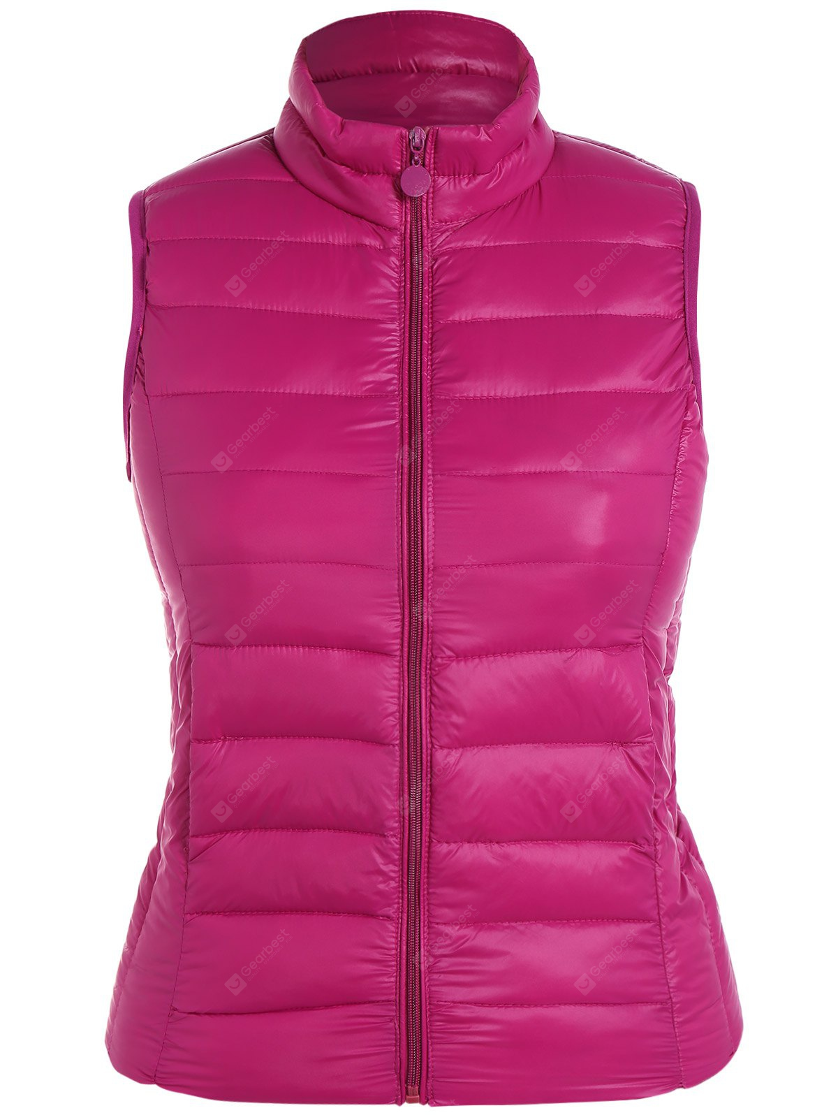 Plus Size Zip Up Quilted Waistcoat