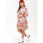 Cookie-Print Swing-Kleid - COLORMIX