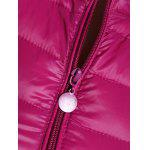 Plus Size Zip Up Quilted Waistcoat - ROSE RED