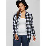 cheap Plus Size Flannel Plaid Cotton Shirt with Pocket