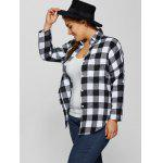 Plus Size Flannel Plaid Cotton Shirt with Pocket deal
