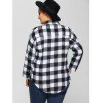 best Plus Size Flannel Plaid Cotton Shirt with Pocket