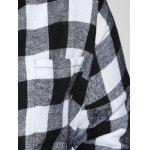 Plus Size Flannel Plaid Cotton Shirt with Pocket photo